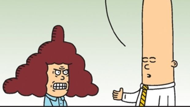 Dilbert comic strip.