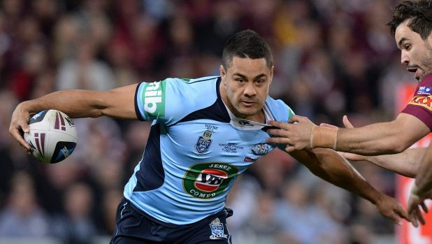 Blues brother: Jarryd Hayne was outstanding as NSW regained the State of Origin shield.