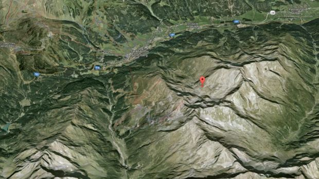 The Australians were snowboarding in this area of Landeck, Tyrol, when the avalanche hit.