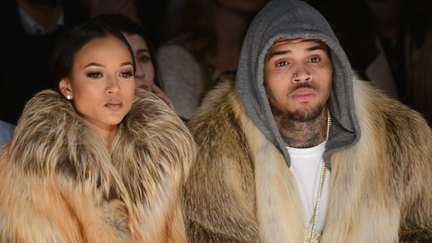 Karrueche Tran and Chris Brown.