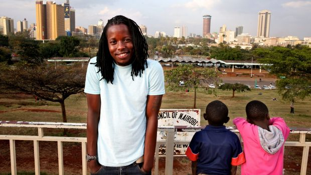 Eugene Mbugua, 23, is the creator and producer of the popular African TV show <i>Young Rich</i>.