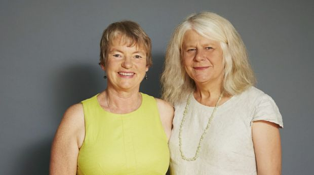 We stick together: Greens senator Janet Rice (at left), with partner Penny Whetton.