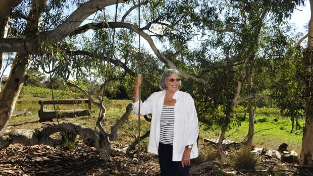Betty Churcher on her property in Wamboin in 2014.