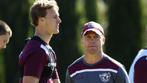 In the spotlight: Daly Cherry-Evans and Geoff Toovey.