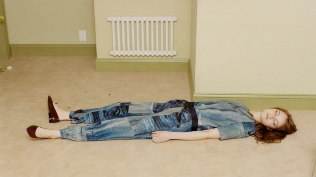 Dead bored: An image from Victoria Beckham's new fashion campaign.