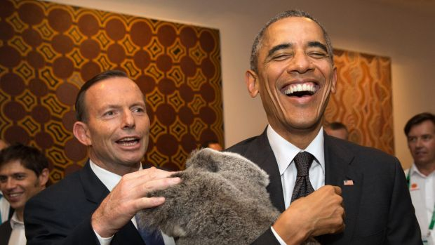 Mr Obama, pictured here during his 2014 visit to Brisbane, highlighted Australia's system of mandatory voting in his ...