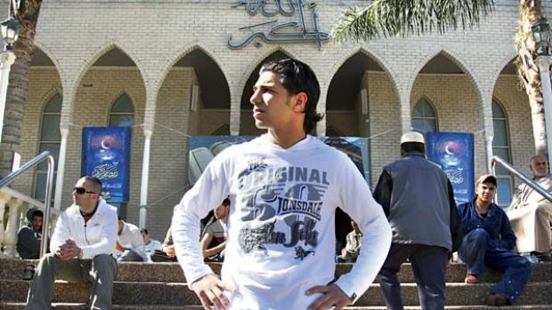 Hungry for a win ... fighter Billy Dib outside his Lakemba mosque this week. The featherweight continues his quest for a ...