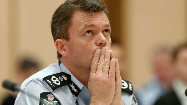 AFP Commissioner Andrew Colvin at a hearing at Parliament House in December.