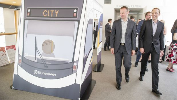 Vote changer? Public opinion on Canberra's light rail line remains polarised.
