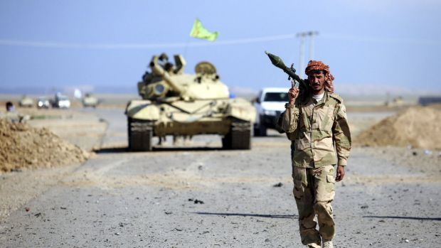 A Shiite militiaman in the town of Hamrin in Salaheddin province on Thursday.