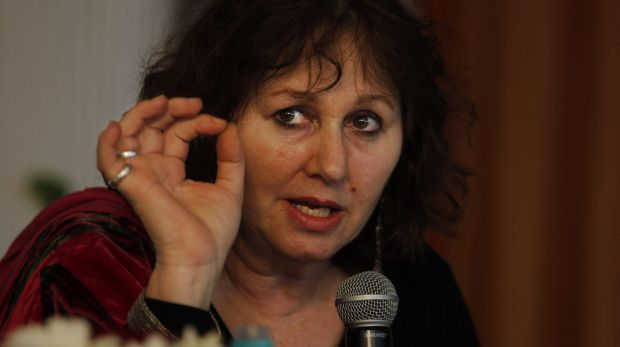 British filmmaker Leslee Udwin addresses a press conference on her documentary film <i>India's Daughter</i> in New Delhi ...