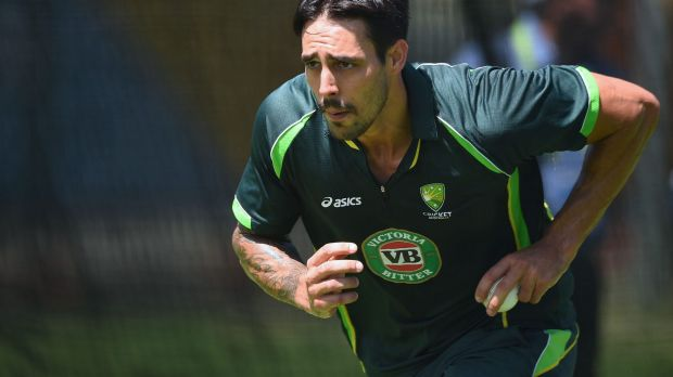 Threatening: A refreshed Mitchell Johnson is looking forward to tackling Sri Lanka.