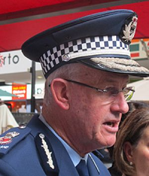 Police Commissioner Bob Atkinson at the announcement.