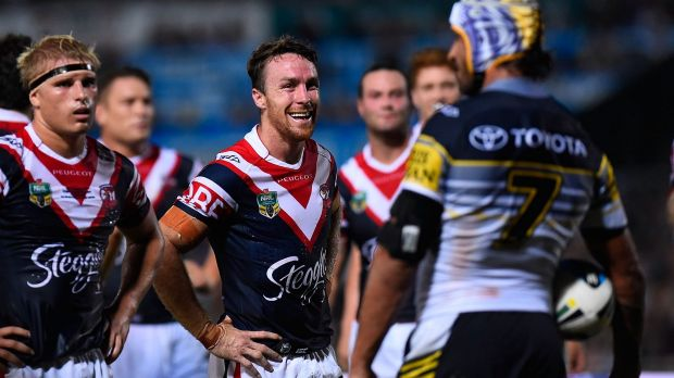 Joke's on you: James Maloney laughs at Cowboys talisman Johnathan Thurston.