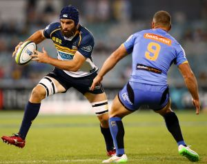 Scott Fardy of the Brumbies in action during the round four Super Rugby match between the Brumbies and the Force at GIO ...