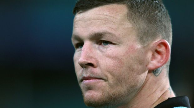 Blindsided: Todd Carney was hit from behind in Catalan Dragons' draw with Salford in Perpignan.