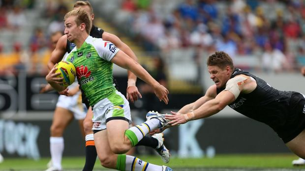 Lachlan Croker was dynamic against the Sharks in the under-20s on Sunday.