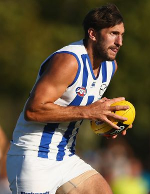 Jarrad Waite in action against the Hawks on Sunday.