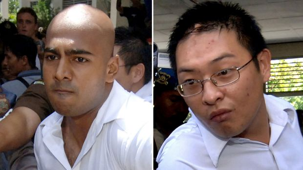 Myuran Sukumaran, left, and Andrew Chan.