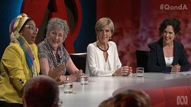 The all-women panel on Q&A including Germain Greer and Julie Bishop.
