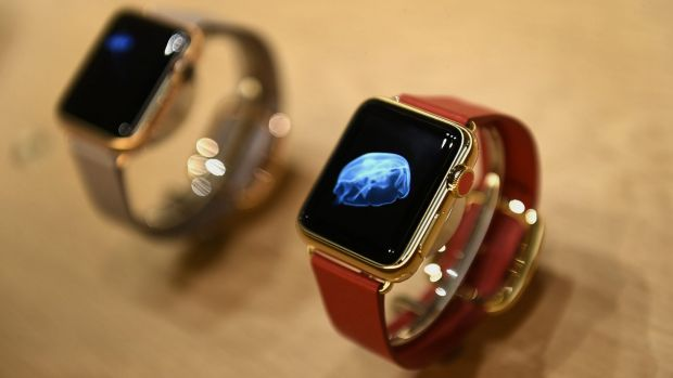 The 18k gold Apple Watch Edition.