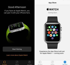 The Apple Watch app that comes with iOS 8.2 and can't be deleted.