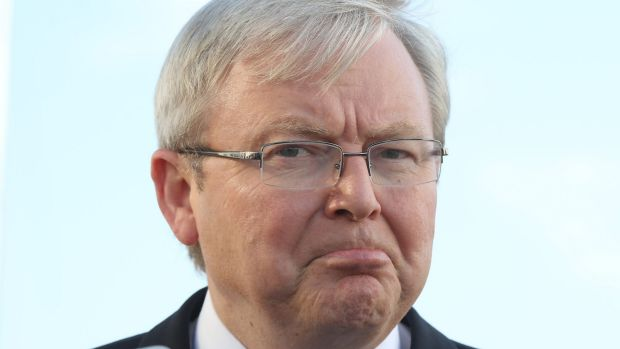 Another comeback: Kevin Rudd.