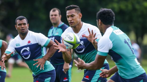 Central role?: Israel Folau appears set to move into a midfielfd role with the Waratahs.