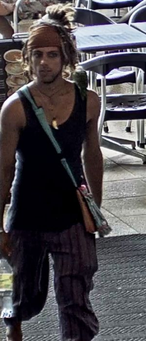Police are currently searching for a man who produced a knife at a Gold Coast film set.