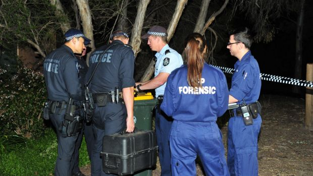 ACT police and forensics officers on the scene.