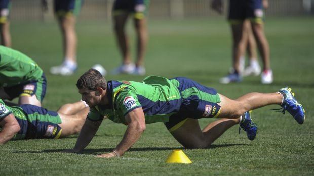 Focus on Warriors: Raiders second-rower Jarrad Kennedy has moved on from the Sharks game.