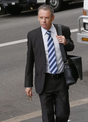 Fairfax Media chief political correspondent Mark Kenny arrives at court.