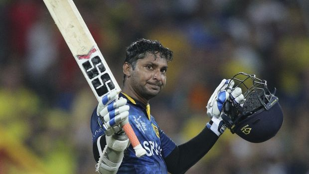 Four in a row: Kumar Sangakkara is in hot form with the bat.