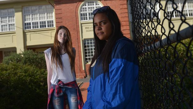 Pavilion school students (left to right) Hannah Gandy and Keisha Atkinson.