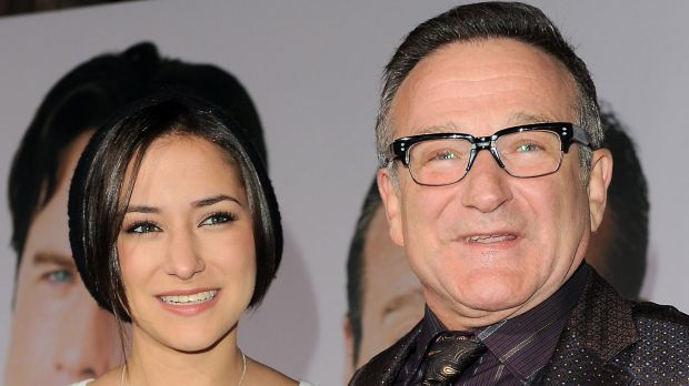 Remembering the good: Zelda, with her late father, Robin Williams.