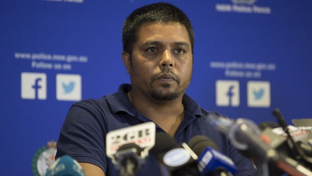 Arun Kumar, husband of murder victim Prabha Arun Kumar, at a police media conference during which he pleaded for the ...