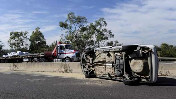 A crash on Morshead Drive heading east between Menindee Drive and the entrance to Duntroon.