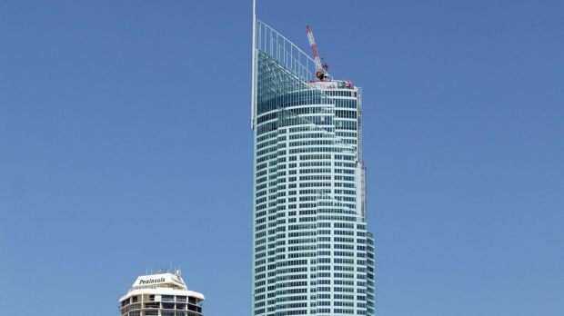 A man has died after falling from the Q1 building on the Gold Coast.