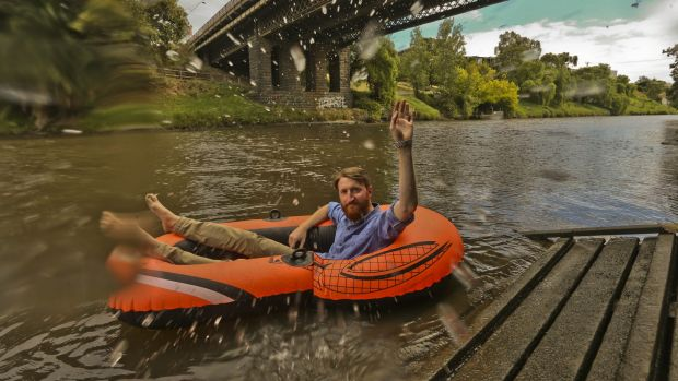 Courtney Carthy thought it would be fun to float down the Yarra with a few friends. After cancelling in 2015, he is now ...