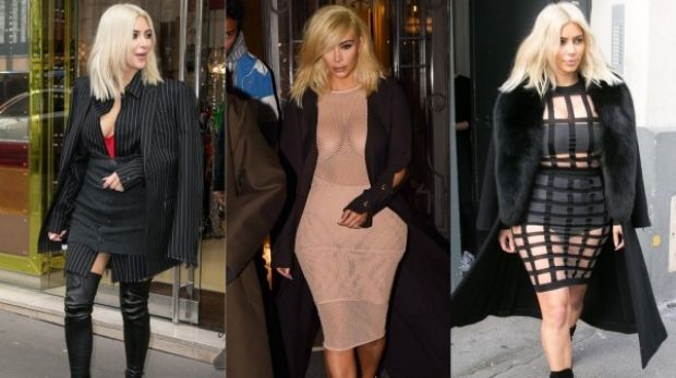 The many blonde shades of Kim Kardashian.