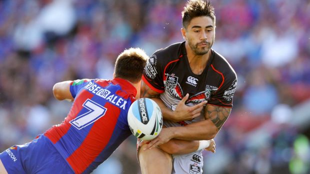 Warriors halfback Shaun Johnson was in the firing line last weekend.