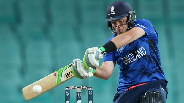 England's Ian Bell on his way to 52 against Afghanistan.