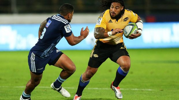 Still got it: Ma'a Nonu evades Charles Piutau of the Blues.