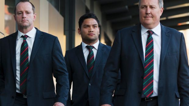 Image adjustment: Luke arrives at the NRL judiciary last September to challenge the dangerous-throw charge that rubbed ...