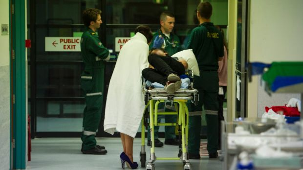 An intoxicated man arrives at the emergency department with his partner after collapsing at Mooseheads night club.
