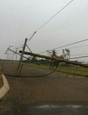 More than 50 power poles were downed in Carnarvon, cutting power to thousands.