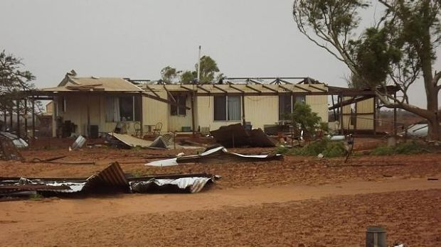 Many homes in Carnarvon suffered roof damage during the cyclone.