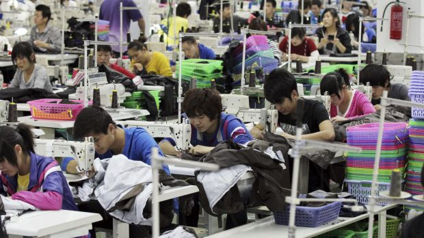 Most of the clothing sold in Australia is made overseas.