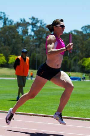 Lauren Wells races at the AIS in January.