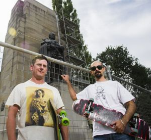 Christian Sheldrick and Tony Caruana from the Canberra Skateboarding Association, who are upset that the NCA is ...